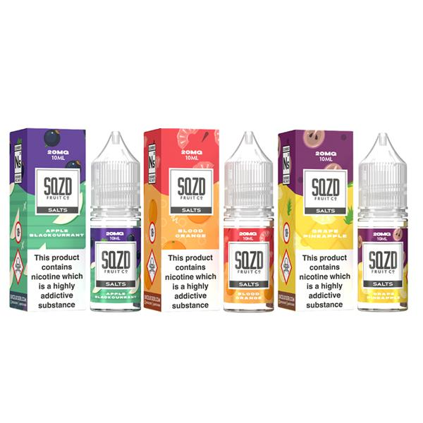 Sqzd Flavoured Nic Salts 10ml 10Mg E-liquid, Cloud Vaping UK