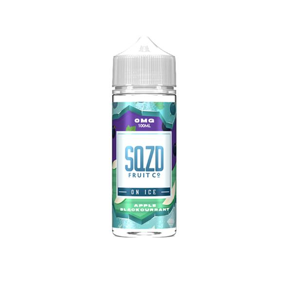 Sqzd On Ice 0mg 100ml Shortfill E-liquid, Cloud Vaping UK