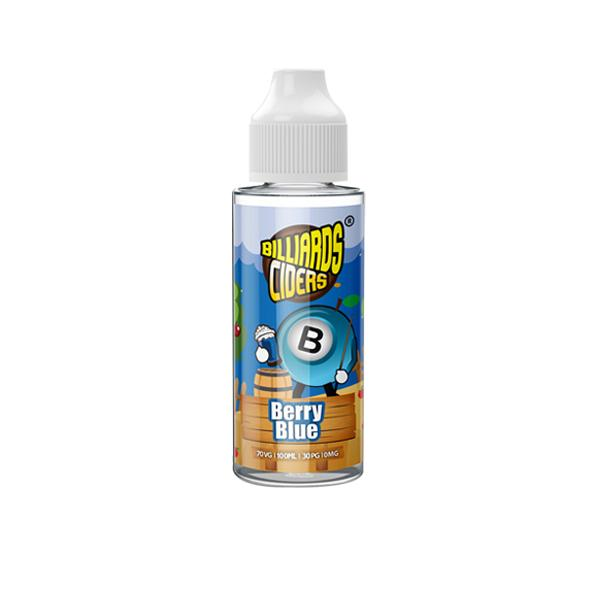 Billiards Ciders Range 100ml Shortfill E-liquid, Cloud Vaping UK
