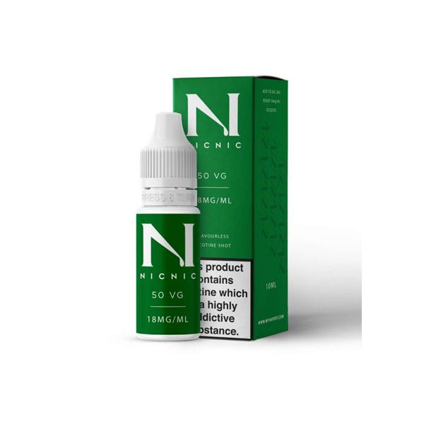 18mg Nic Nic Flavourless Nicotine Shot 10ml 50VG, Cloud Vaping UK