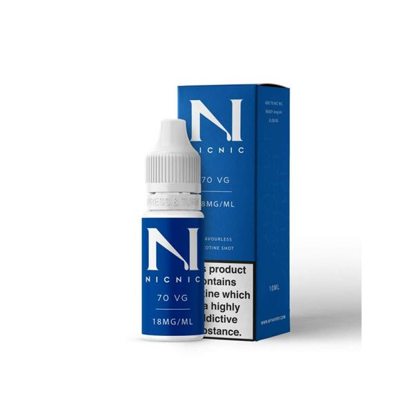 18mg Nic Nic Flavourless Nicotine Shot 10ml 70VG, Cloud Vaping UK
