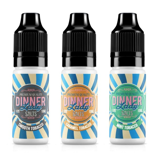 Dinner Lady Nic Salts Tobacco Range 10ml E-liquid, Cloud Vaping UK