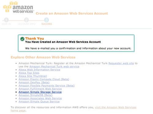 شرح إنشاء حساب جديد على موقع Amazon S3 (1)