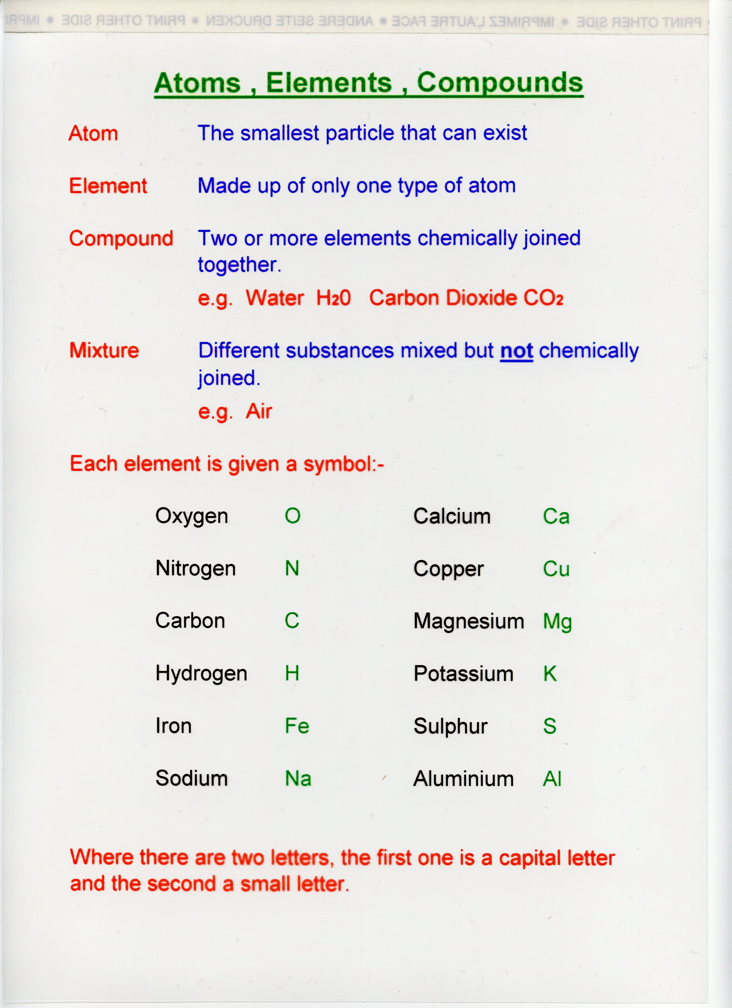 Elements Compounds And The Periodic Table