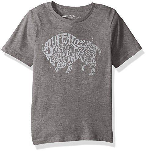 Buffalo by David Bitton Big Boys' Typo UNO Tee Shirt, Medium Grey Heather, Small (8)