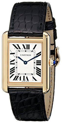 Cartier Women's Tank Solo 18kt Yellow Gold Case Watch