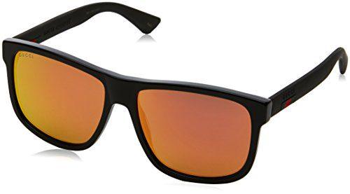 Gucci Urban Sunglasses, Lens-58 Bridge-16 Temple-145, Black / Red / Black