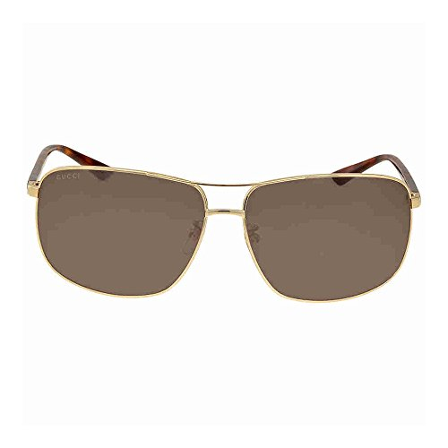 Gucci Men Gold/Green Sunglasses 66mm