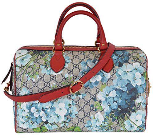 Gucci Women's GG Supreme BLOOMS Convertible Boston Bag