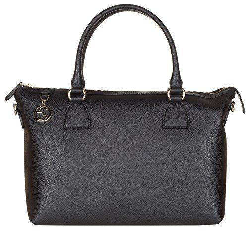 Gucci Black Calf Leather GG Pendant Hobo Shoulder Bag