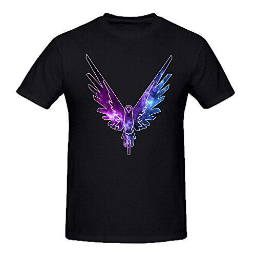 Maverick Logo T Shirt,Logan Paul Logang YouTube Mens Crew Neck T-Shirts Parrot Logo shirt Black M
