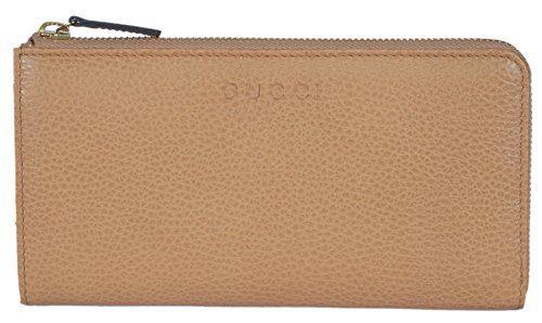 Gucci Women's Leather Zip Around Wallet (Whisky Beige)