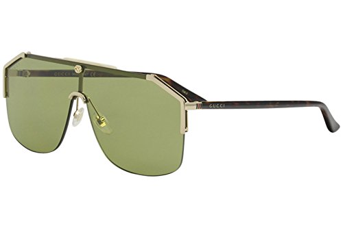 Gucci 100% Authentic Men's Sunglasses Gold 004