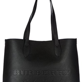 Burberry Women's Large Embossed Leather Tote Black