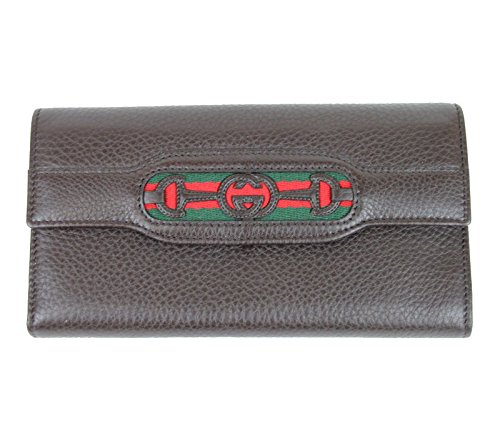 Gucci Women's Continental Brown Leather Wallet