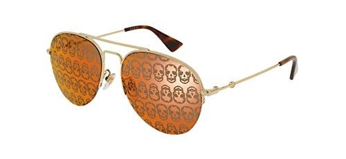 Gucci GG GOLD/ORANGE Sunglasses