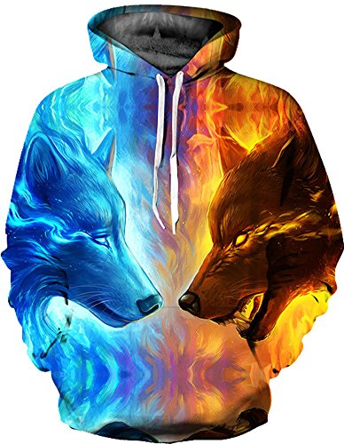 Azuki Unisex Realistic 3d Digital Print Pullover Hoodie Hooded Sweatshirt - 48 Kinds Of Styles For Choose, Theres Always One Style You Like, Series 02, Medium