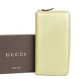 Gucci Gold Betty Leather Interlocking G Zip Around Wallet 309705 7100