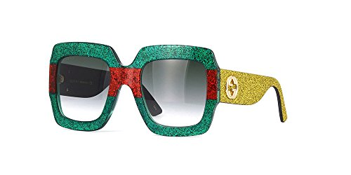 Gucci MULTICOLOR/GREEN GOLD Sunglasses