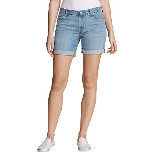 Eddie Bauer Women's Boyfriend Denim Shorts, Coast Petite 6