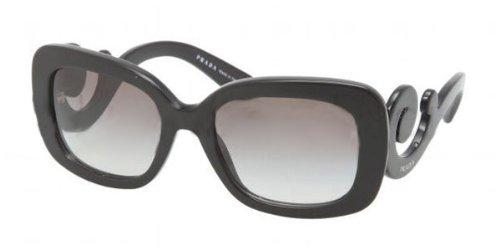 Prada Women's Baroque Square Sunglasses, Black