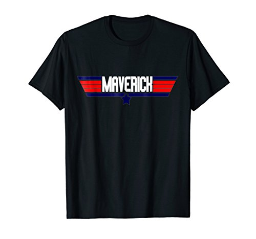 """Maverick"" retro classic action movie geek nerd quote tee"