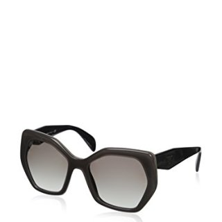 Prada Grey and Black 16RS Butterfly Sunglasses Lens Category 2