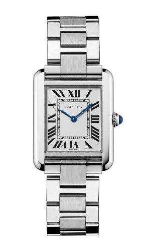 "Cartier Women's ""Tank Solo"" Stainless Steel Dress Watch"
