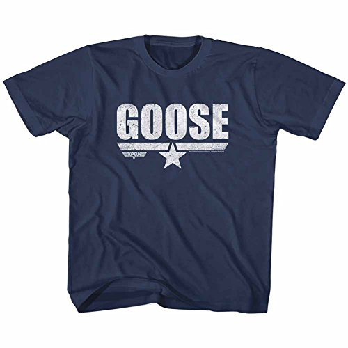 American Classics Top Gun 1980's Military Action Movie Vintage Goose Navy Little Boys T-Shirt