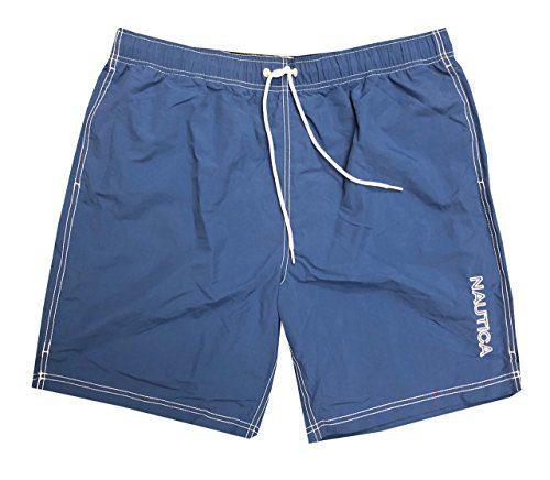 Nautica Mens Quick-Dry Logo Swim Trunk Shorts (3XL, Dark Blue(463))