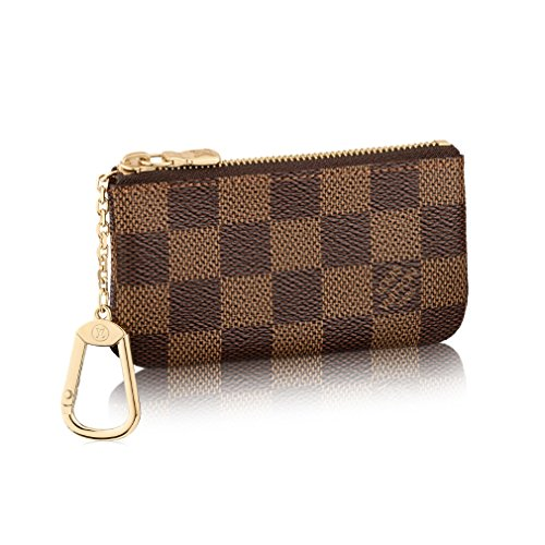 Louis Vuitton Damier Canvas Key Pouch Key Ring Made in France