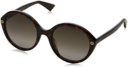 Gucci Women's Havana/Gold Fashion Sunglasses 55mm