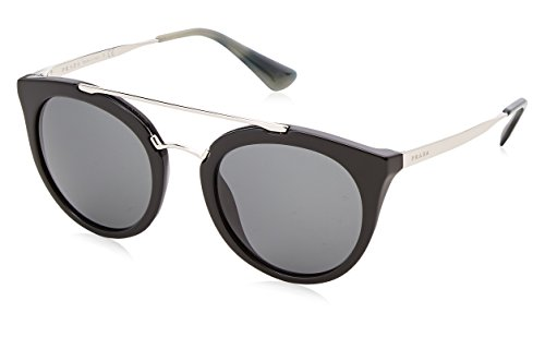 ddaf18416ea Prada Black   Gunmetal 23Ss Round Sunglasses Lens Category 3 Size 5 ...