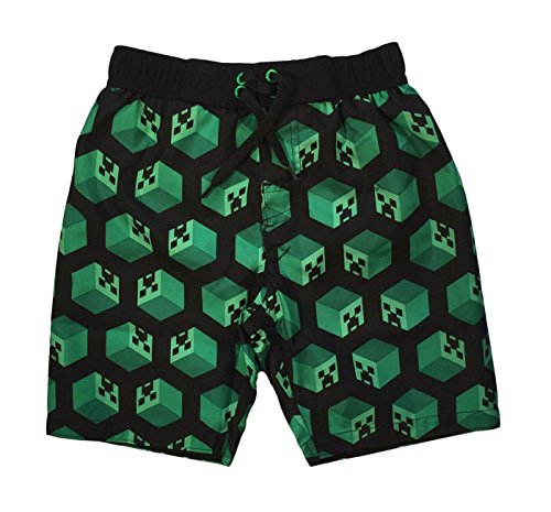 Dreamwave Minecraft Creeper Little Boys Swim Trunks (7)