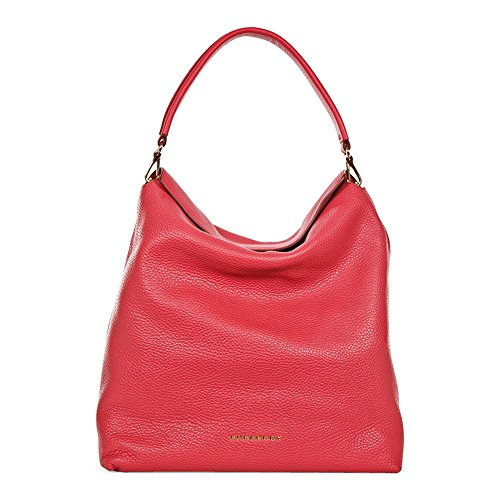 Burberry Medium Leather Hobo Bag - Pink Azalea