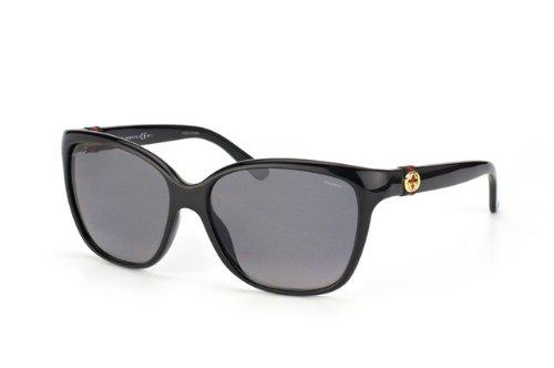 Gucci 3645/S Sunglasses Shiny Black / Gradient Shaded Polarized