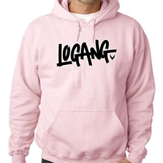 New Way 826 - Adult Hoodie Logang Logan Paul Maverick Savage Unisex Pullover Sweatshirt Medium Light Pink