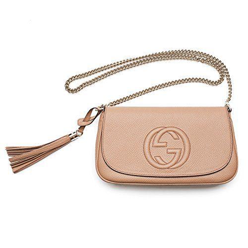 b26054715186 Gucci Soho Camelia Rose Beige Light Tan Leather shoulder bag New ...