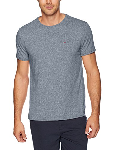 Tommy Jeans Men's T-Shirt Original Short Sleeve Tee, Black Iris, Large