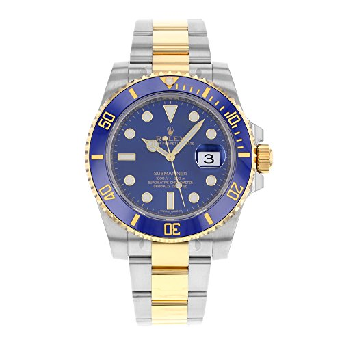 Rolex Submariner Stainless Steel Yellow Gold Watch Blue Ceramic Watch