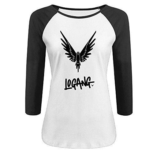Women's Parrot Logo Logan Paul Logang 3/4 Sleeve Raglan Tshirt