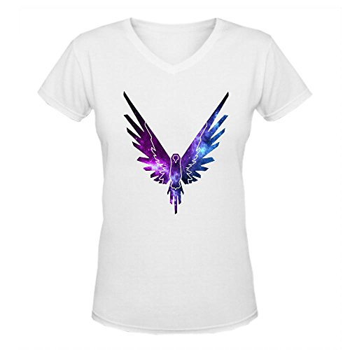 Doppelwalker Maverick Logo T Shirt,Logan Paul Logang YouTube womens V Neck T-Shirts White M