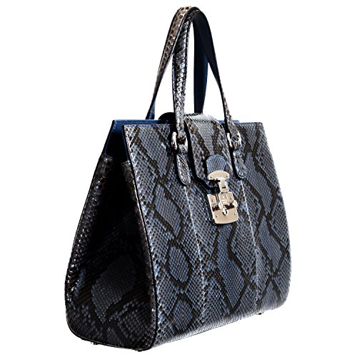 Gucci Women's Caspian Blue Python Skin Handbag Shoulder Bag