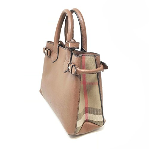 1bd9930539 Home   Shop   Women   Accessories   Handbags   Wallets   Burberry Women s  Small  Banner  Leather and House Check Handbag Dark Saddle Brown Tan