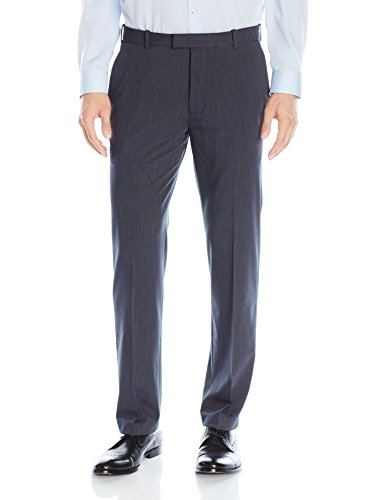 Van Heusen Men's Flex Straight Fit Flat Front Pant, Ash Navy, 36W x 32L