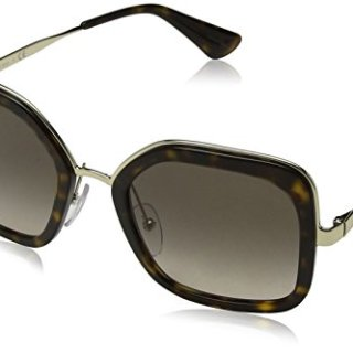 Prada Women's Oversized Square Sunglasses, Havana/Brown Grey, One Size