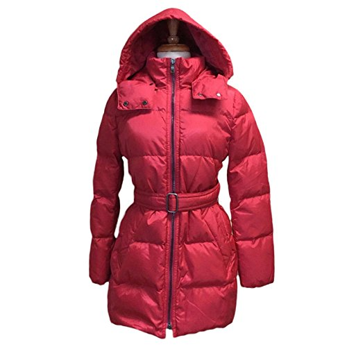 Coach Women's Center Zip Puffer Jacket Coat Pink Scarlet S L XL $498 (XL)