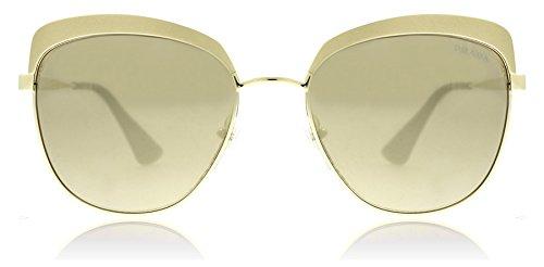Prada Metallized Pale Gold Round Sunglasses Lens Category