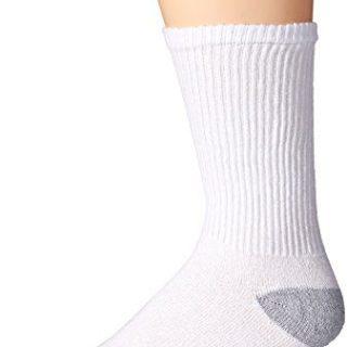 Gildan Men's Crew Socks (10 Pair Pack), White, Shoe Size: 6-12