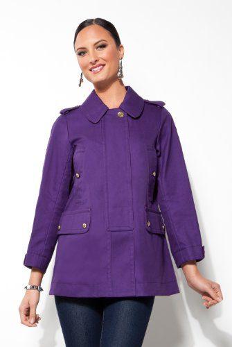 Coach Ladies Balmacaan Purple Overcoat - Size Extra Small